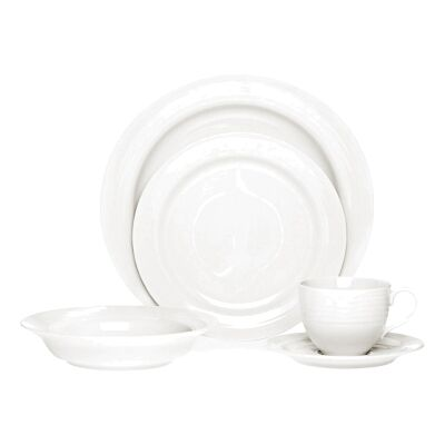Noritake Arctic White 20 Piece Fine China Dinner Set