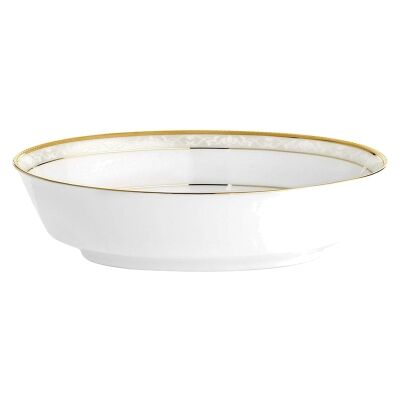 Noritake Hampshire Gold Fine China Oval Serving Bowl