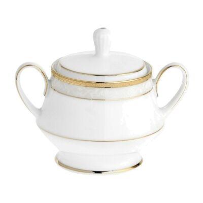 Noritake Hampshire Gold Fine China Sugar Bowl