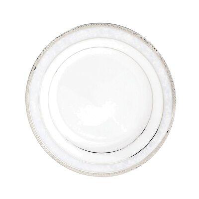 Noritake Hampshire Platinum Fine Porcelain Soup Plate