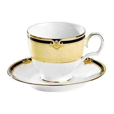 Noritake Braidwood Fine China Teacup and Saucer Set
