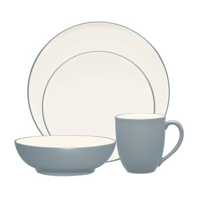 Noritake Colorwave Slate 16 Piece Stoneware Dinner Set