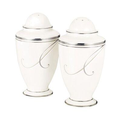 Noritake Platinum Wave Fine China Salt and Pepper Shaker Set