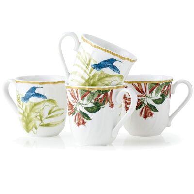 Noritake Hummingbird Meadow 4 Piece Mug Set