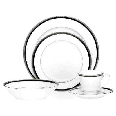 Noritake Toorak Noir Fine China 20 Piece Dinner Set