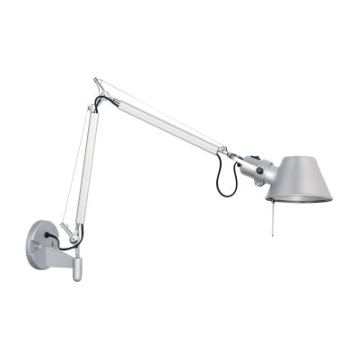 Forma Metal Adjustable Wall Light, Silver