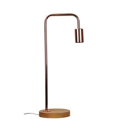 Lane Timber & Metal Table Lamp, Copper