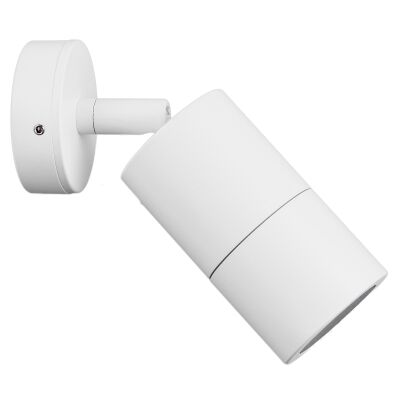 Roslin IP65 Exterior Single Adjustable Wall Light, GU10, White