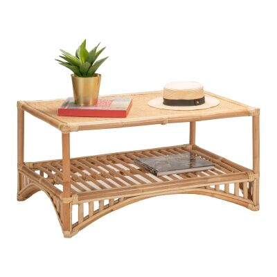 Livingston Rattan Coffee Table, 90cm