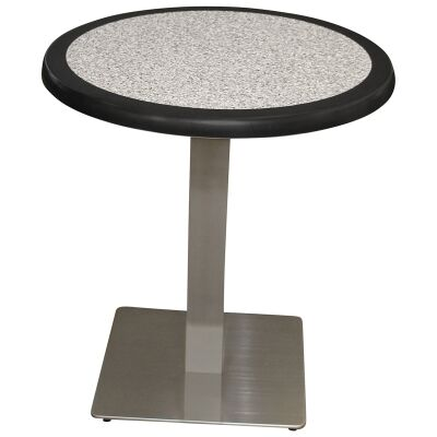 Barona Commercial Grade Round Dining Table, 60cm, Pebble