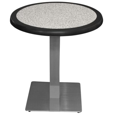 Barona Commercial Grade Round Dining Table, 70cm, Pebble