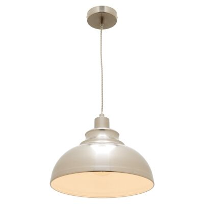 Risto Metal Pendant Light, Satin Chrome