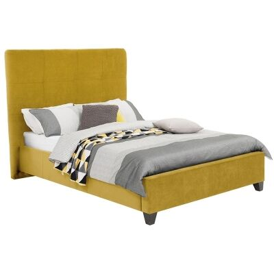 Ruby Australian Made Fabric Bed, Queen Size, Chartreuse