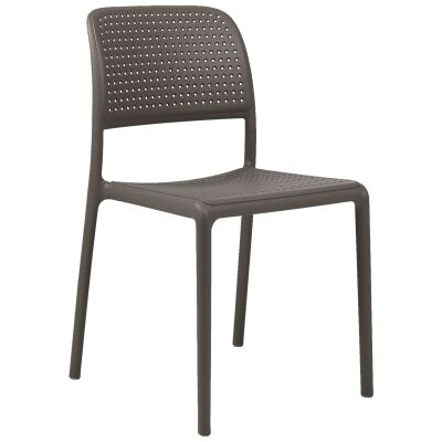 Bora Italian Made Commercial Grade Stackable Indoor/Outdoor Side Chair - Taupe