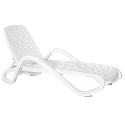 Guam Commercial Grade Sun Lounge - White