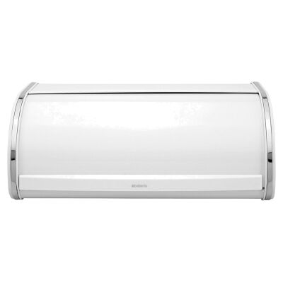 Brabantia Large Roll Top Bread Bin - White