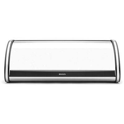 Brabantia Large Roll Top Bread Bin - Brilliant Steel