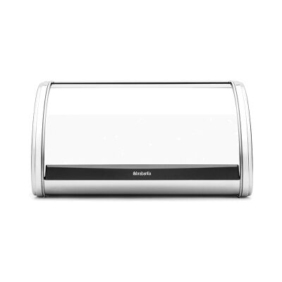 Brabantia Medium Roll Top Bread Bin - Brilliant Steel