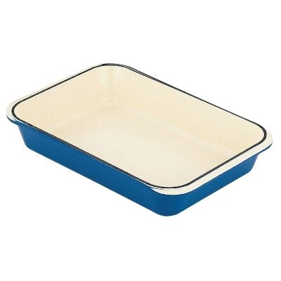 Chasseur Cast Iron Rectangular Roaster, 40x26cm, Sky Blue