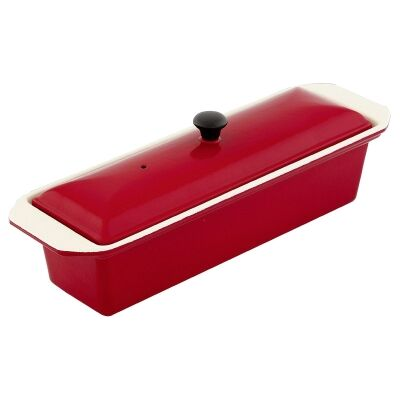Chasseur Cast Iron Terrine, 32cm, Federation Red