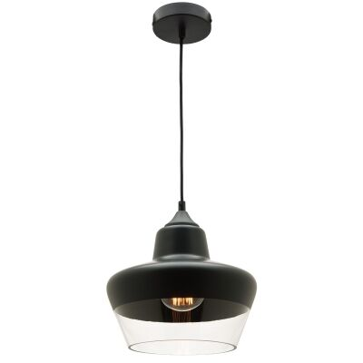 Stout Metal and Glass Pendant Light