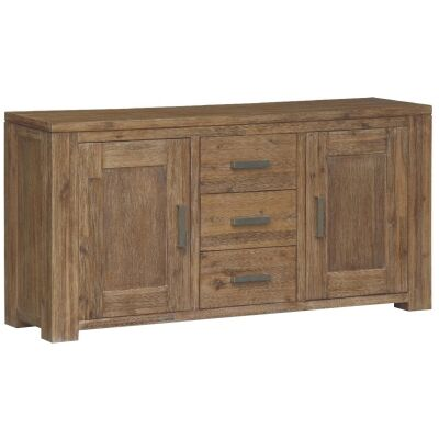 Ashton Solid Acacia Timber 2 Door 3 Drawer 170cm Buffet Table