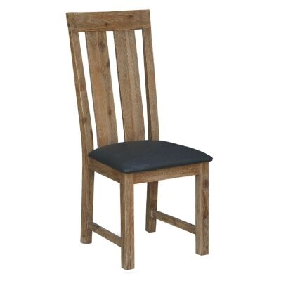 Ashton Solid Acacia Timber Dining Chair with PU Seat