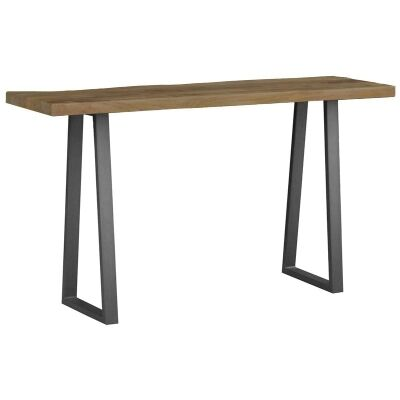 Udall Mango Wood Timber and Metal 140cm Console Table