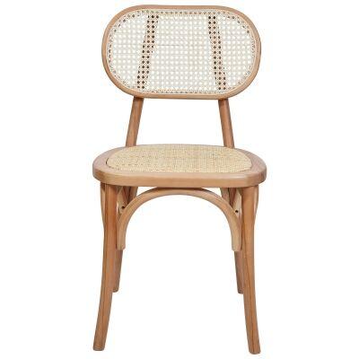 Kotara Beech Timber & Rattan Dining Chair, Natural