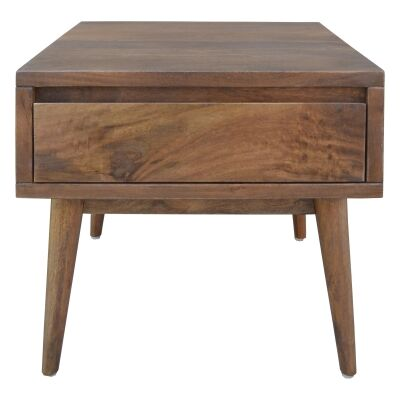 Stuart Solid Mango Wood Timber Side Table with Drawer
