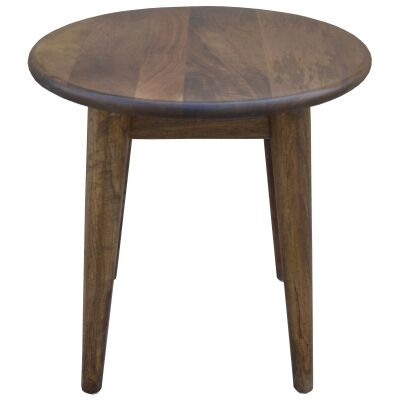 Stuart Solid Mango Wood Timber Round Side Table