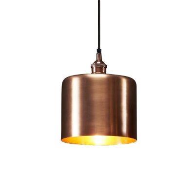Zurich II Metal Drum Pendant Light, Medium, Antique Copper