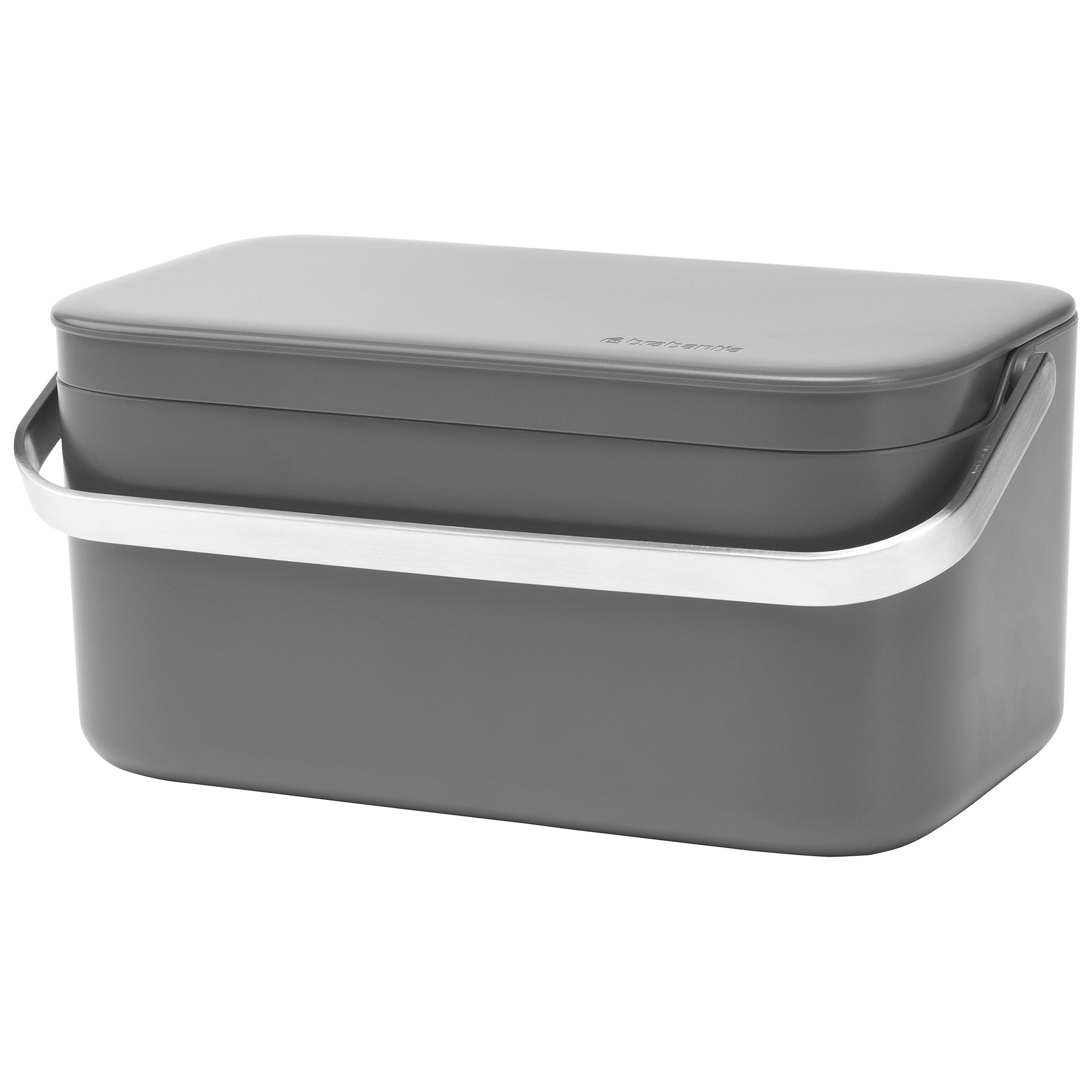 Brabantia Food Waste Caddy, Dark Grey