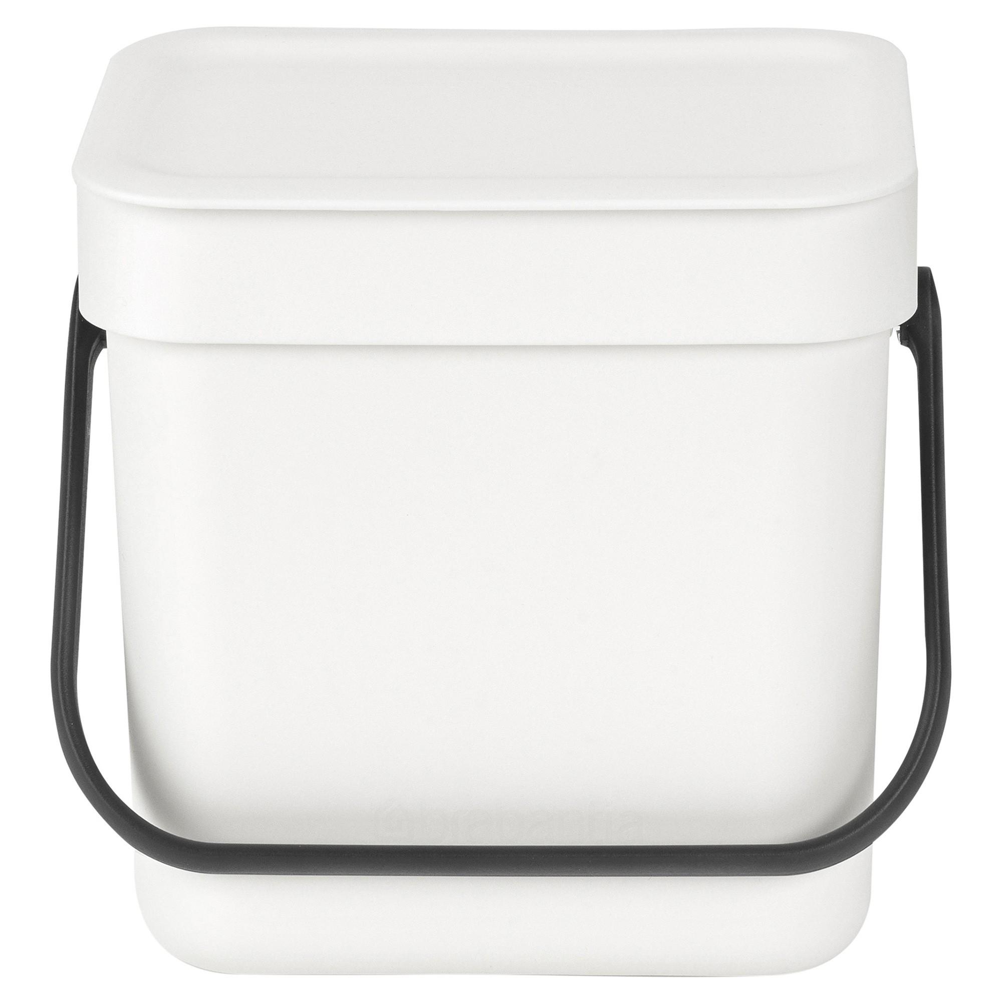 Brabantia Sort & Go Waste Bin, 3 Litre, White