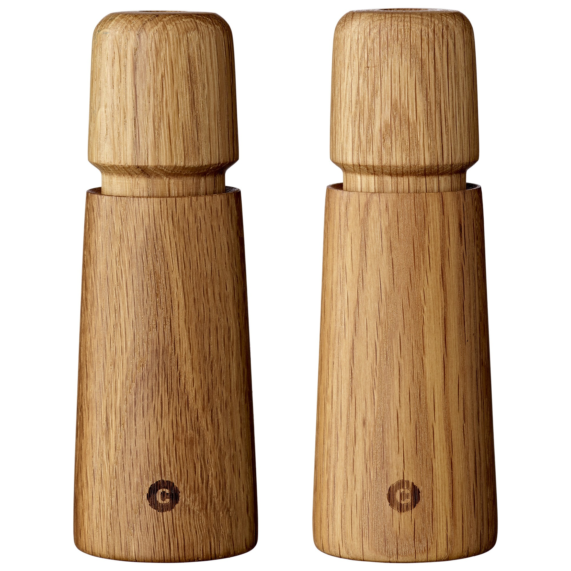 Stockholm 2 Piece Wooden Salt & Pepper Mill Set, Oak