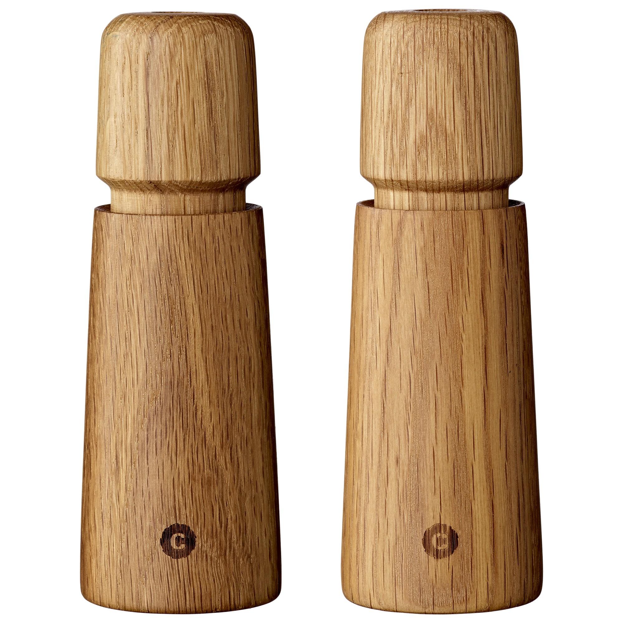 Stockholm 2 Piece Wooden Salt & Pepper Mill Set, Oak