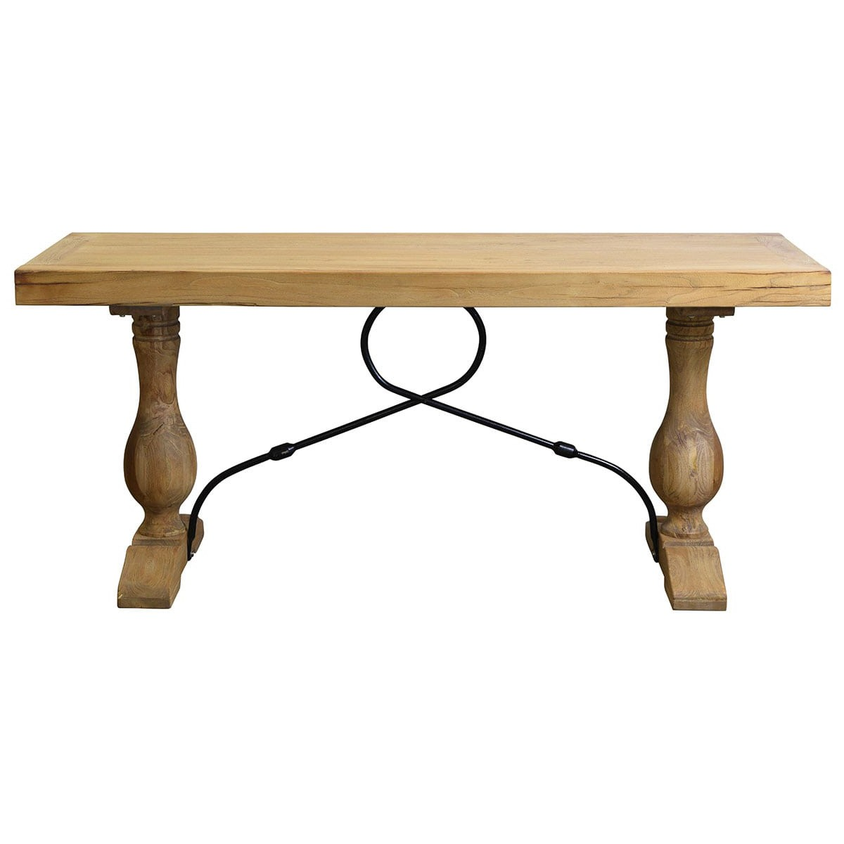 Madrid Reclaimed Elm Timber Console Table, 180cm, Natural