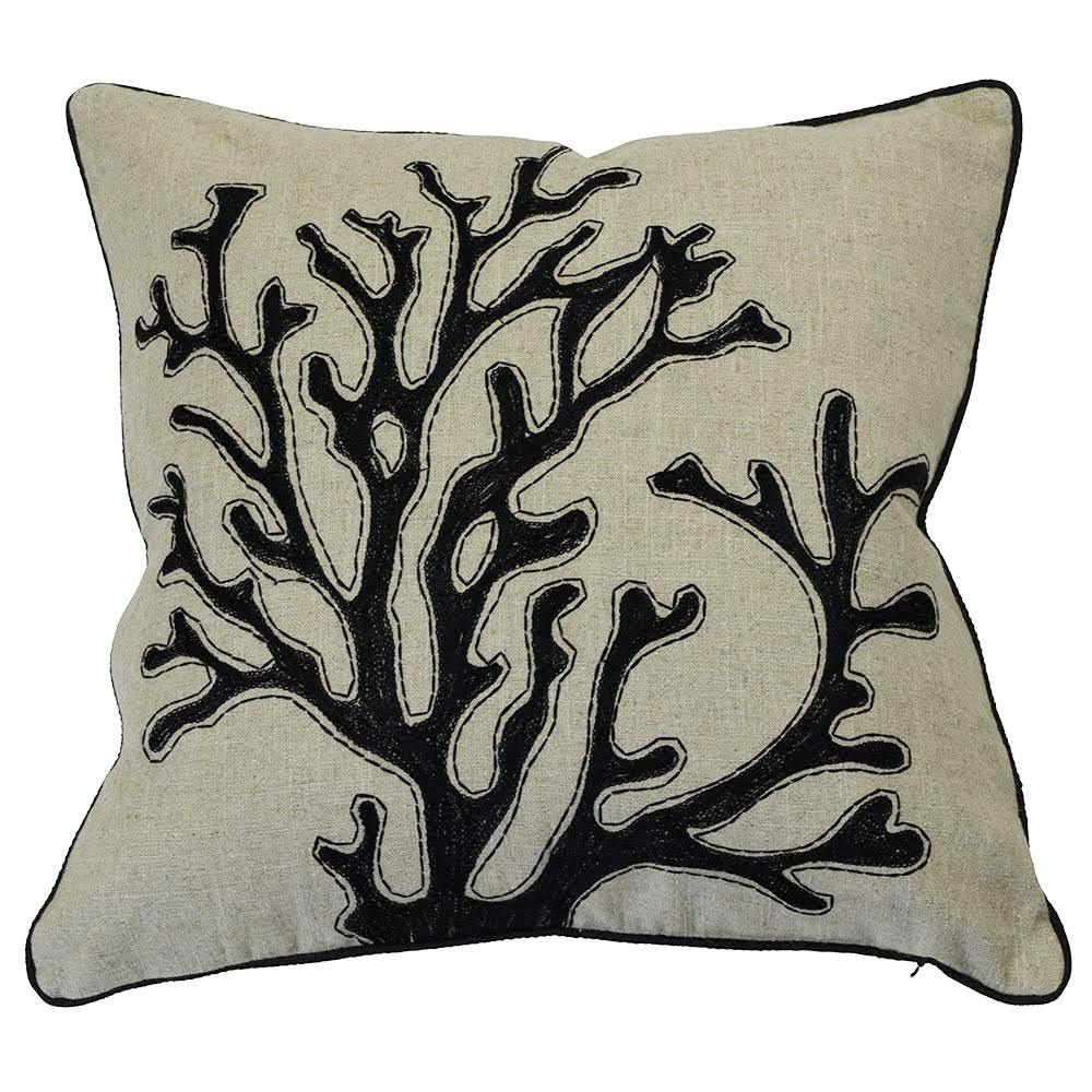 Imperia Linen Scatter Cushion Cover, Black