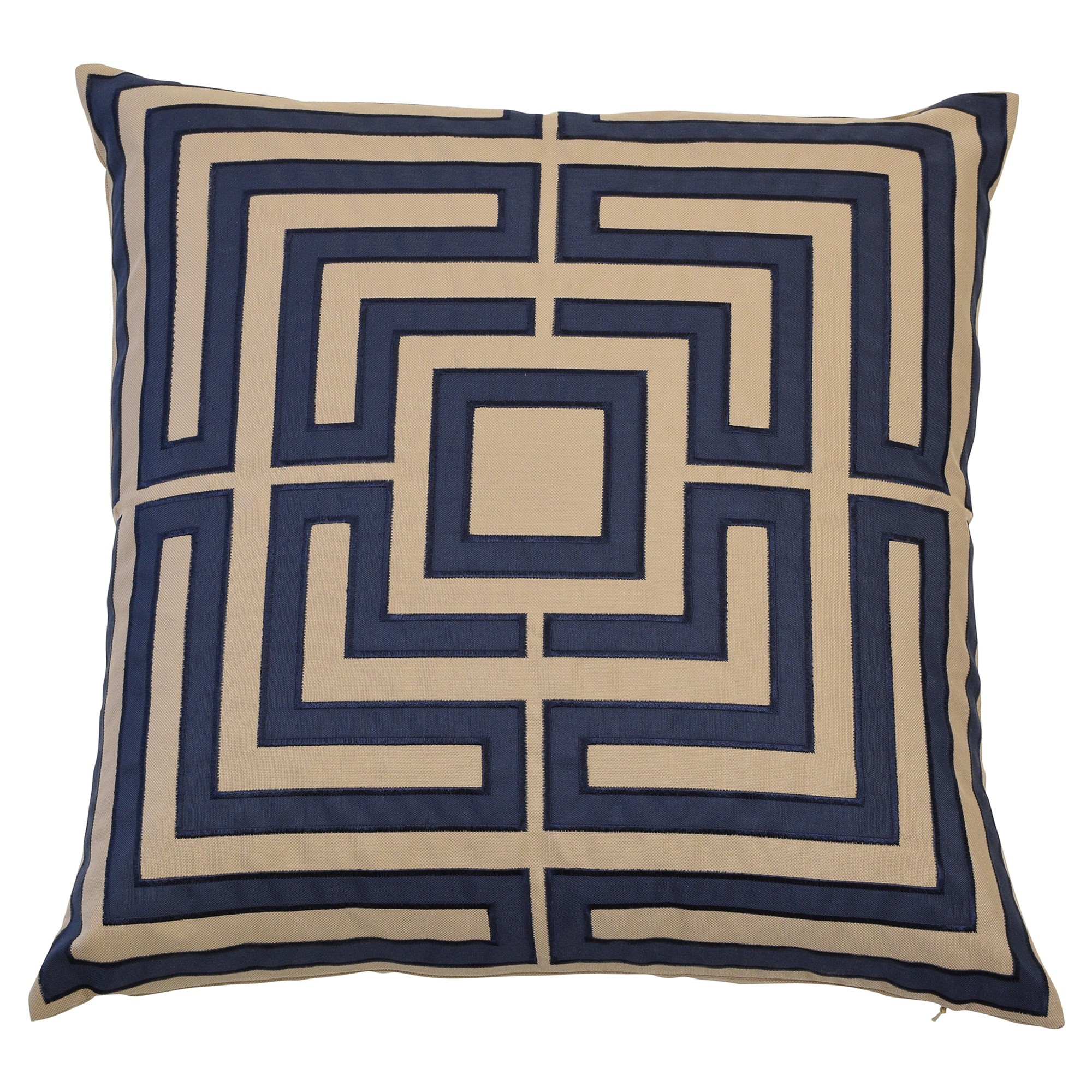Acapulco Fabric Indoor / Outdoor Scatter Cushion Cover, Navy / Khaki