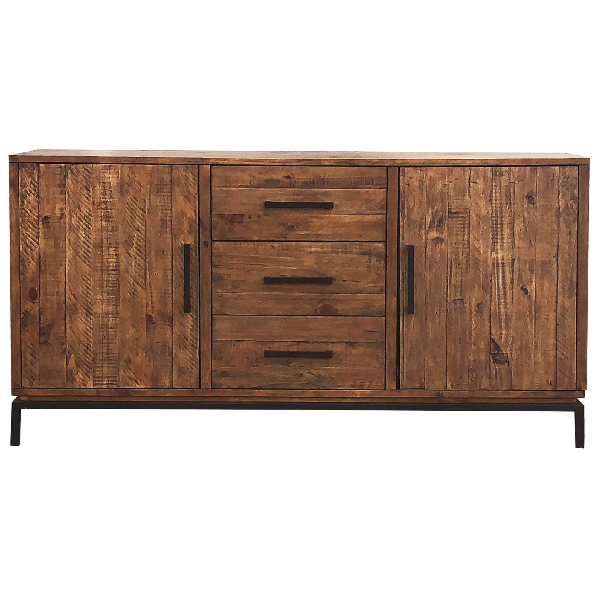 Ermou Pine Timber 2 Door 3 Drawer Buffet Table, 160cm