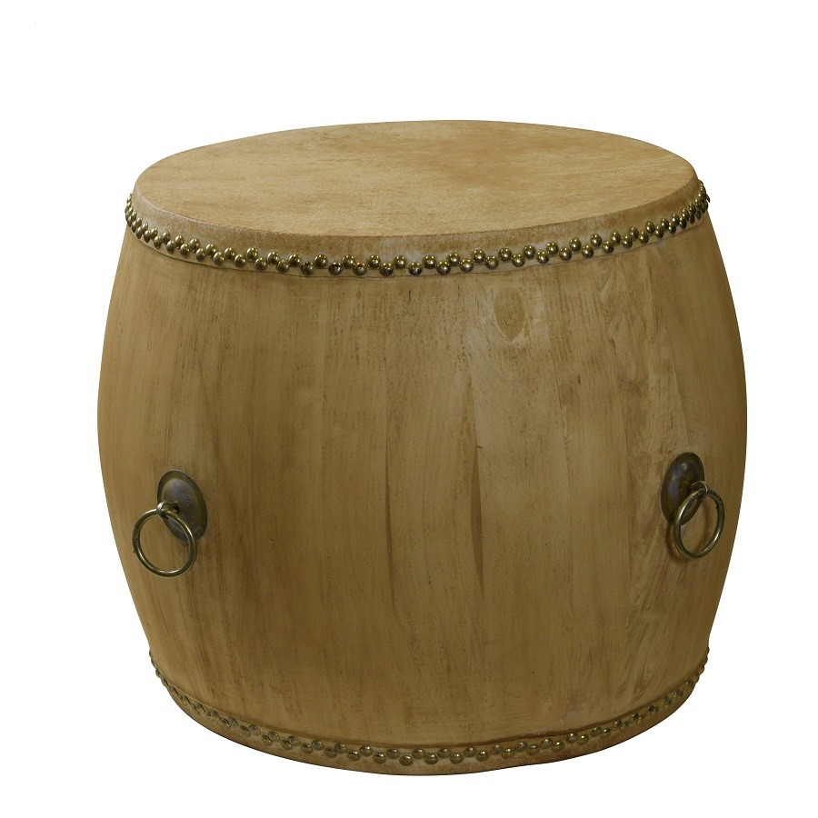 Empire Drum Table, Natural