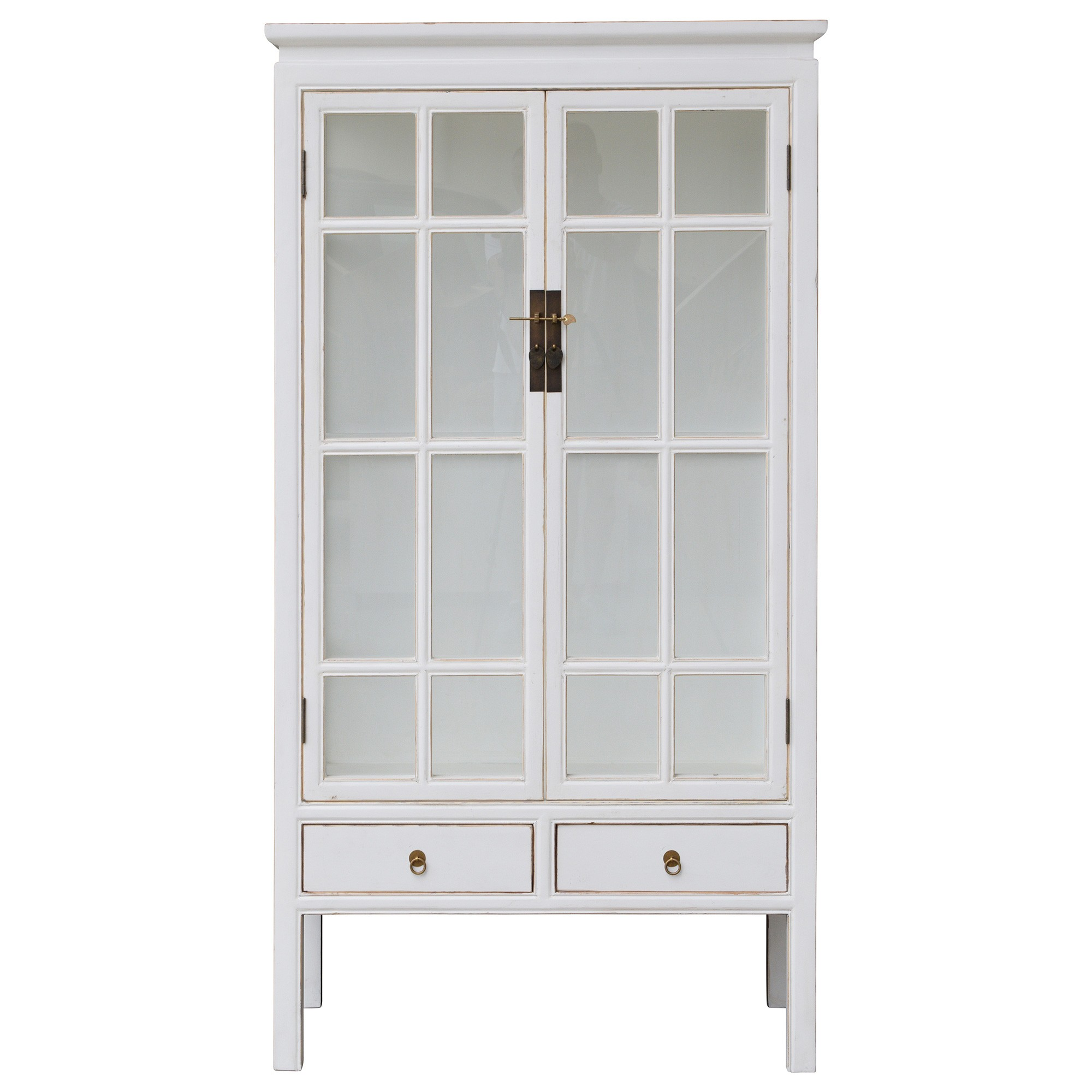 Beijing 2 Door Display Cabinet, White