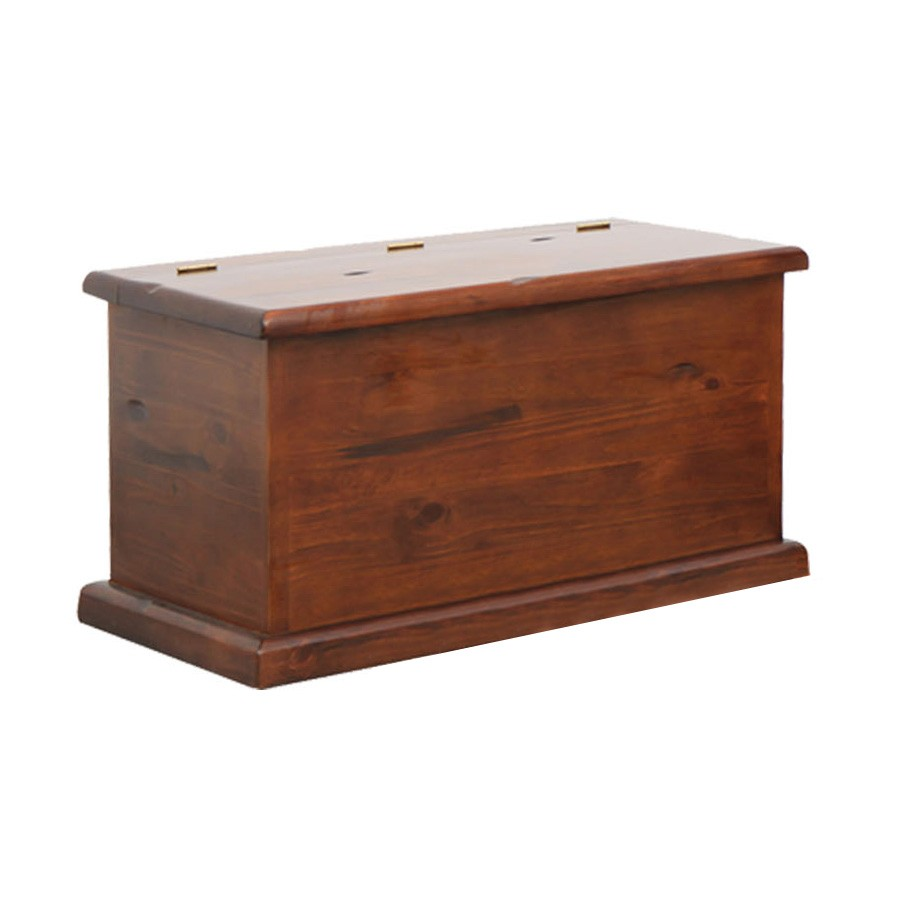 Spring New Zealand Pine Timber Blanket Box