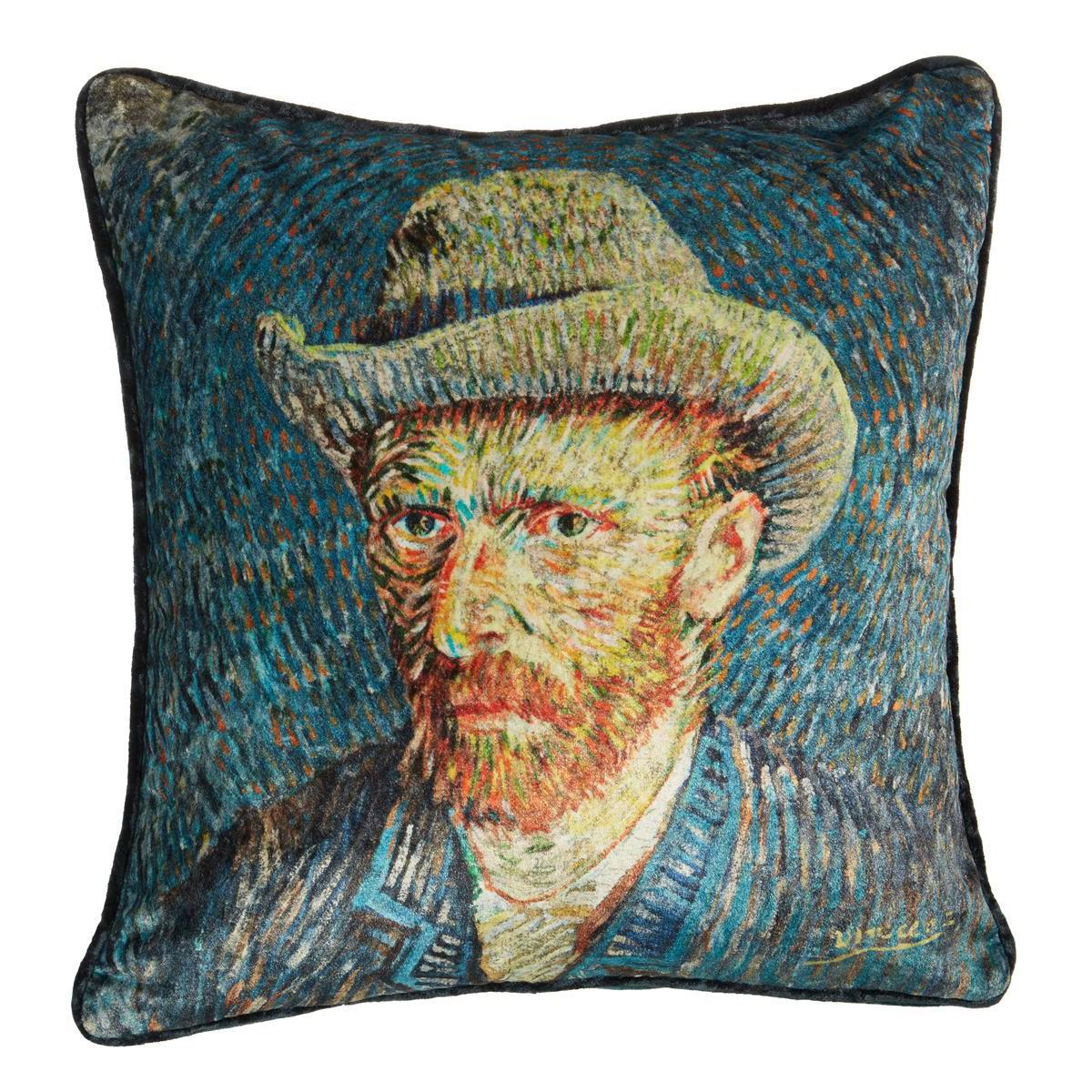 Beddinghouse Van Gogh Self-Portrait with Grey Felt Hat Velvet Scatter Cushion