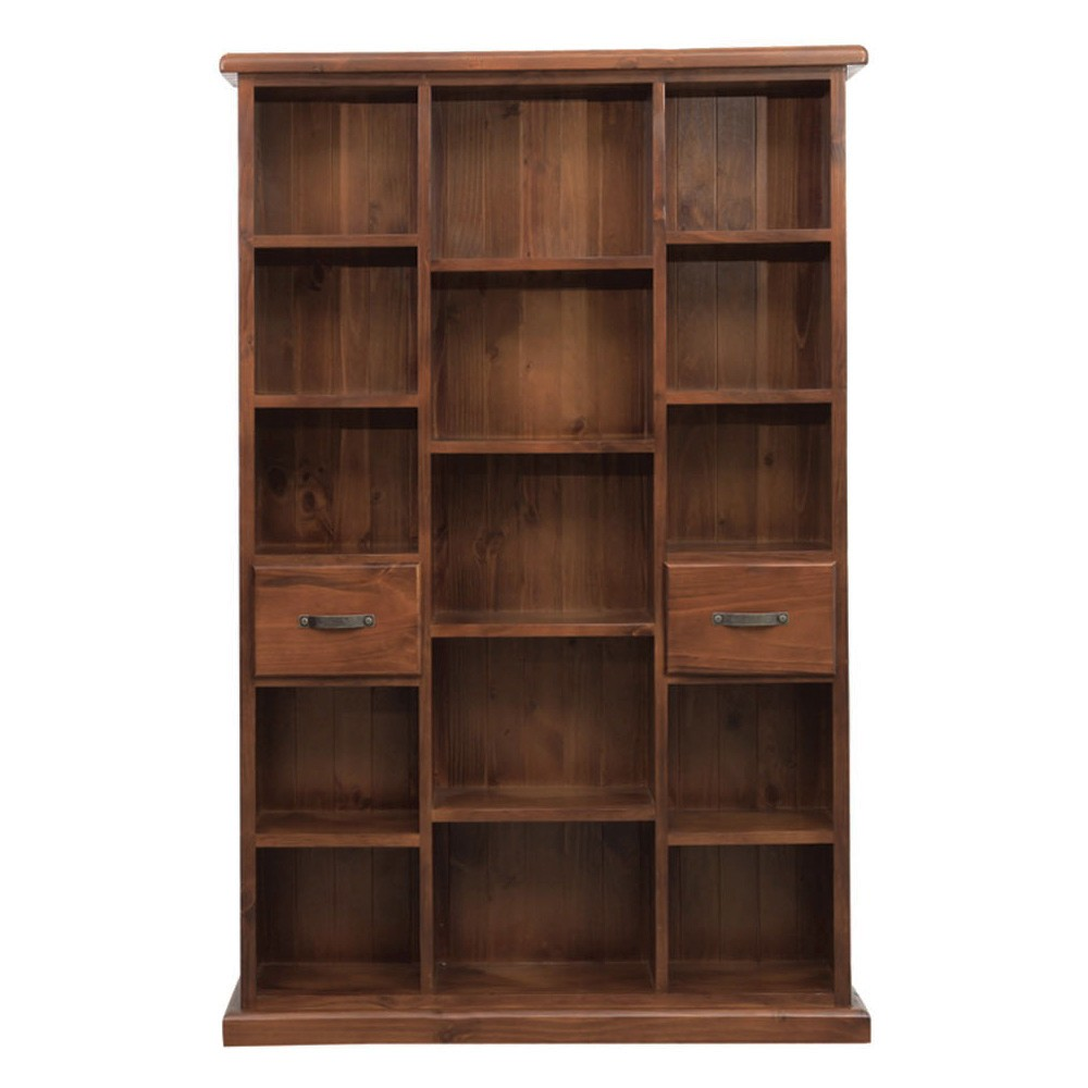 Spring New Zealand Pine Timber Compartment Bookcase