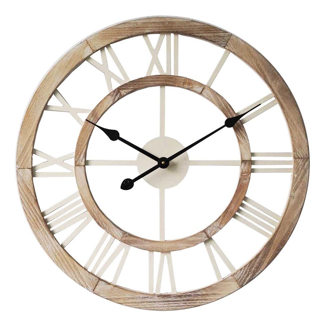Sete Wooden Round Wall Clock, 60cm