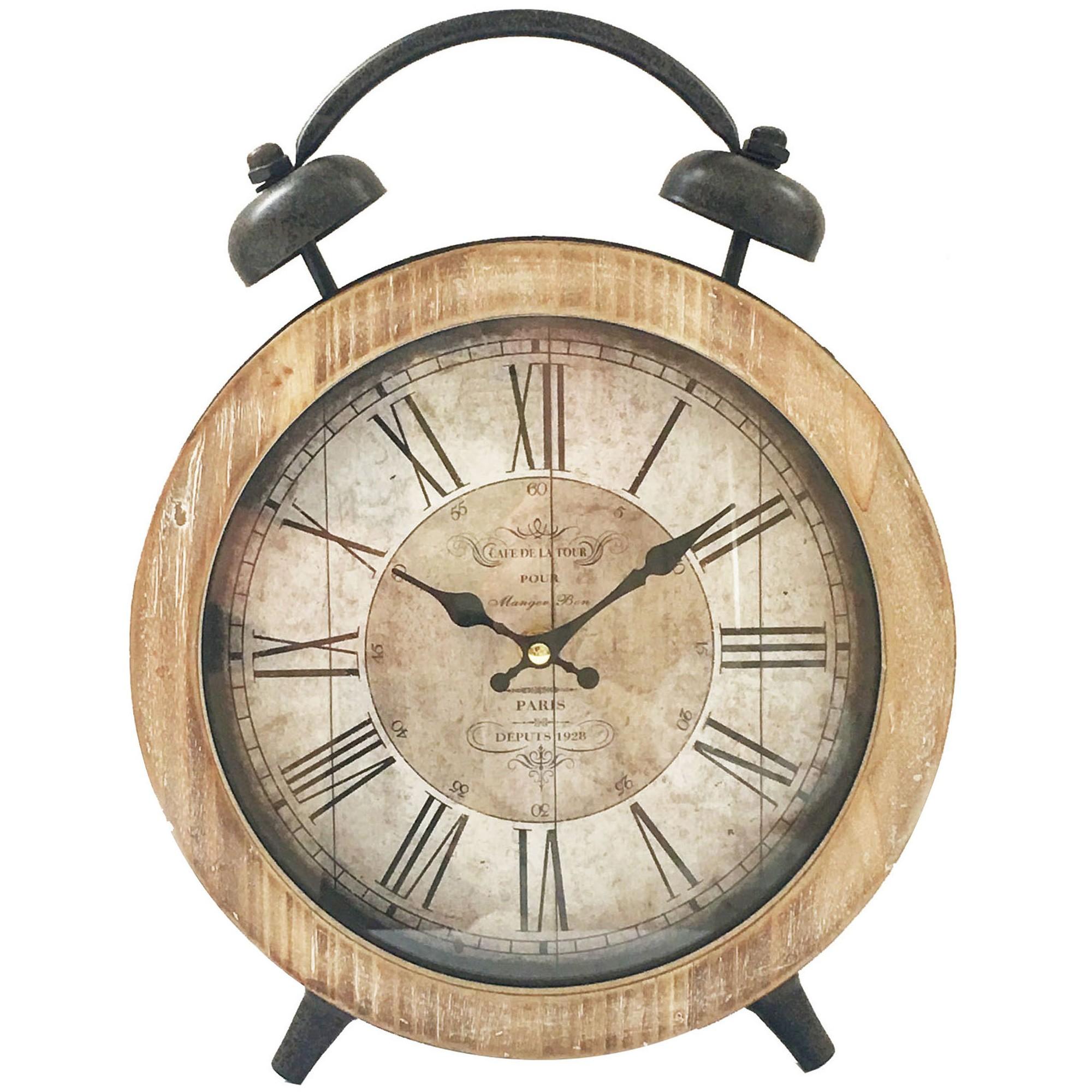 Cafe De La Tour Fake Alarm Table Clock