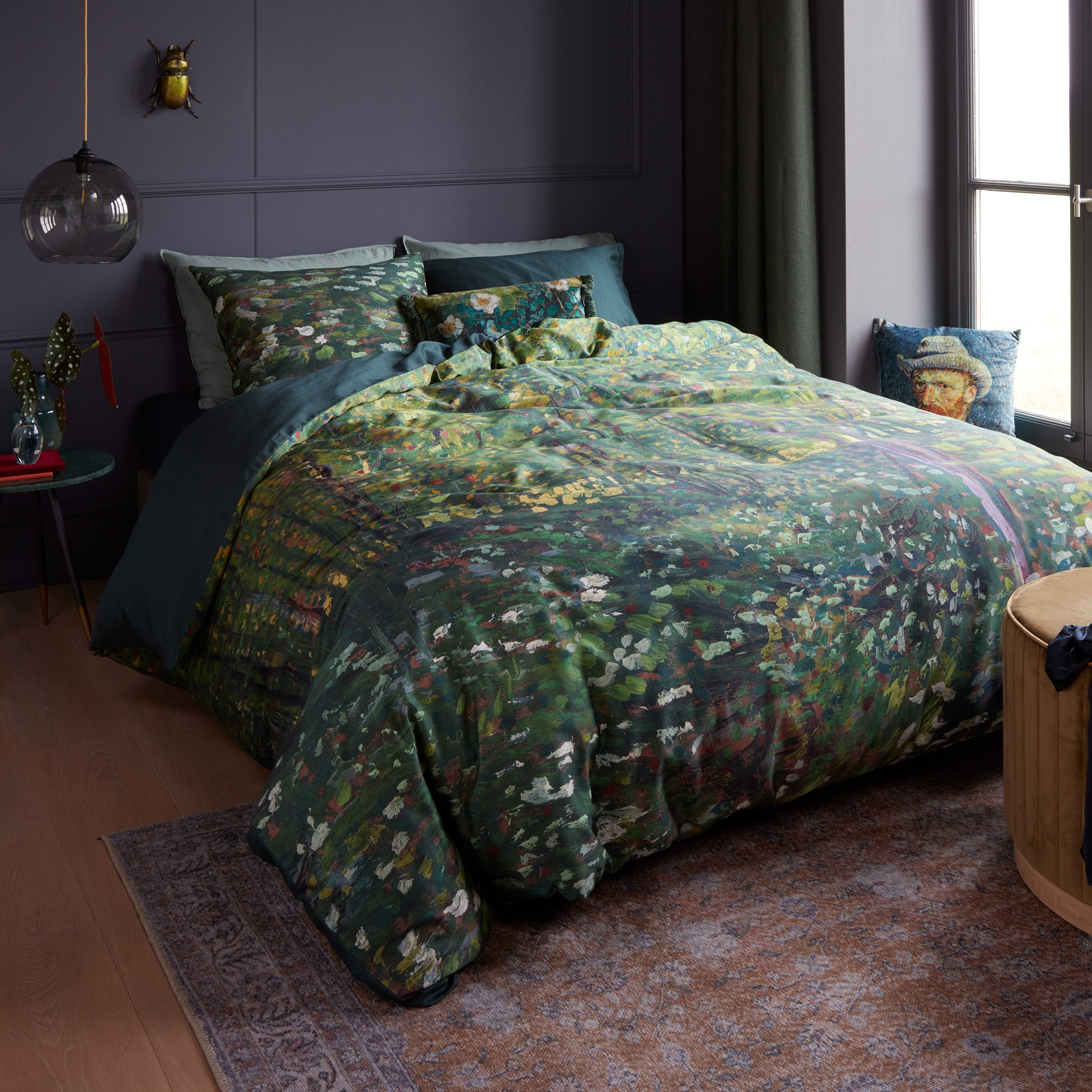 Beddinghouse Van Gogh Trees & Undergrowth Cotton Sateen Quilt Cover Set, King