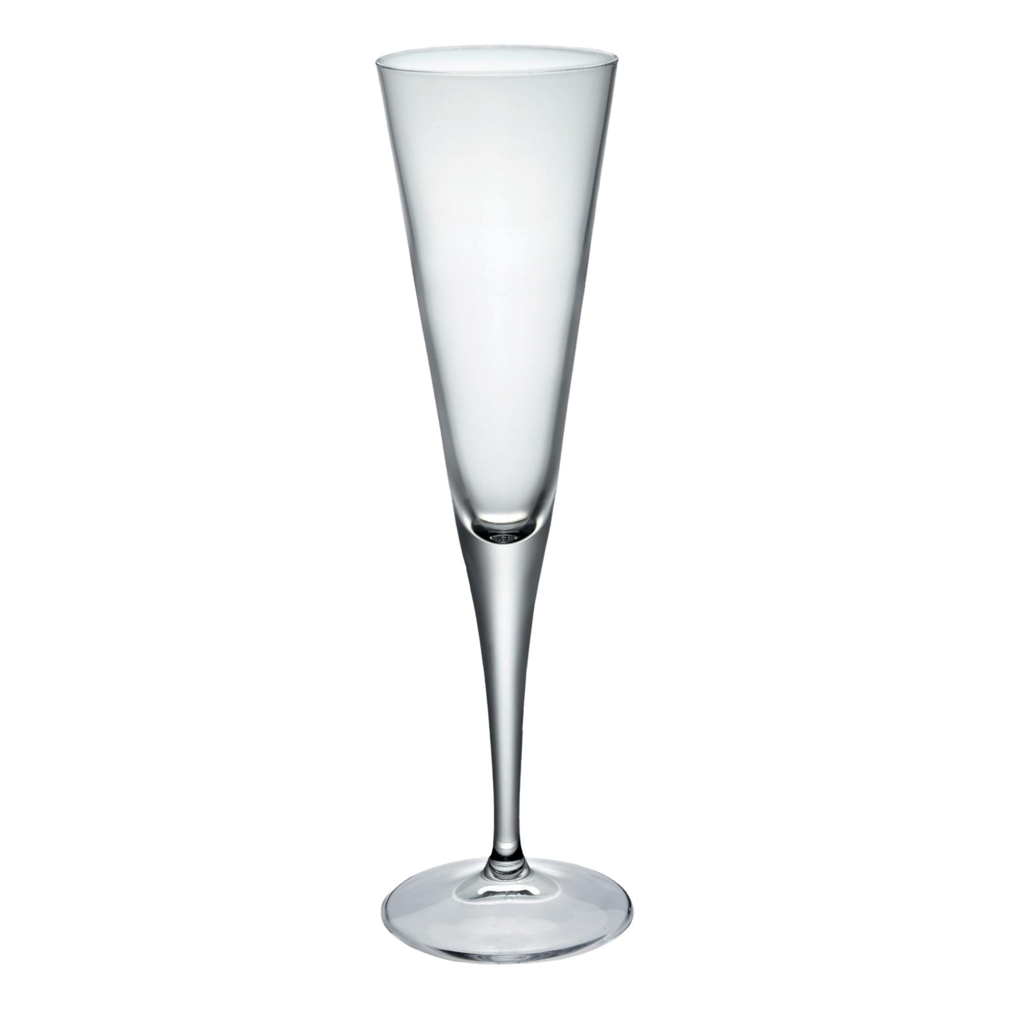 Bormioli Rocco Ypsilon Champagne Flutes, Set of 4