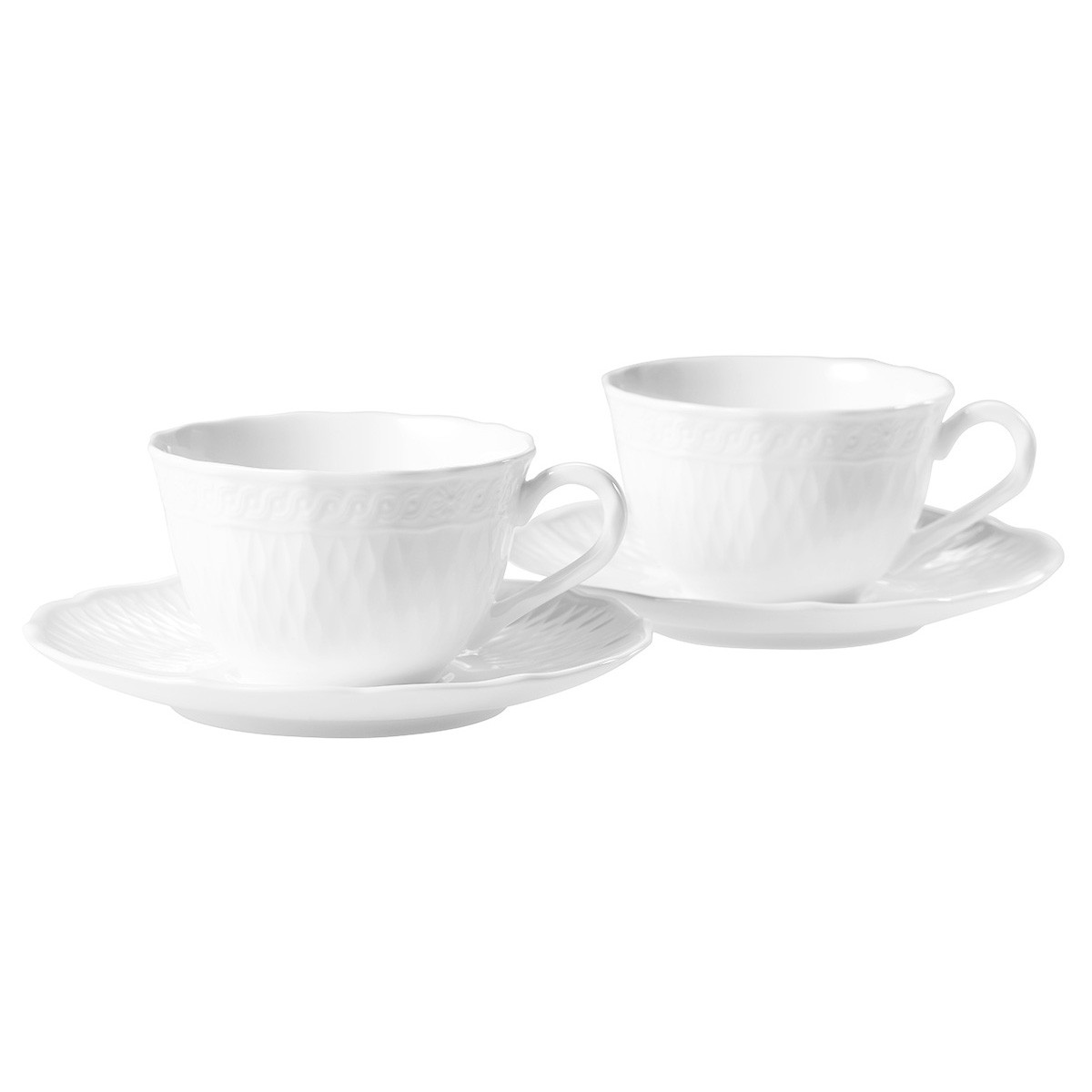 Noritake Cher Blanc Fine China Cup & Saucer Set